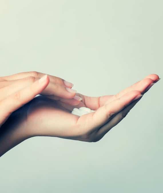 hand full of cleansing cbd hand creme